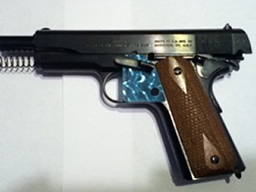 ISPT-1911-GI-Aqua-on-Pistol